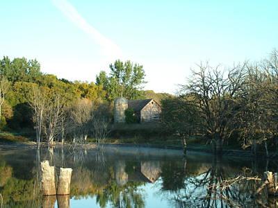 Autumn Farm At Dawn Original
