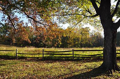 Maine Farms Digital Art - Autumn Field In Pennsylvania by Bill Cannon