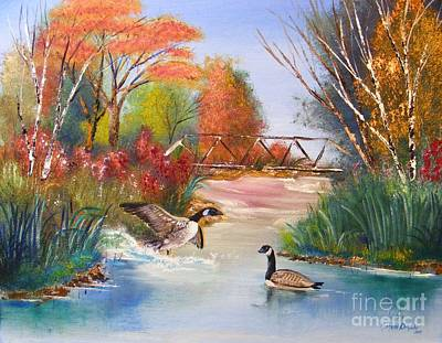 Painting - Autumn Geese by Crispin  Delgado