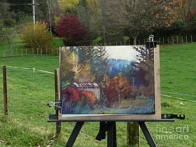 Painting - Autumn Glory....on Location. by Pamela Pretty