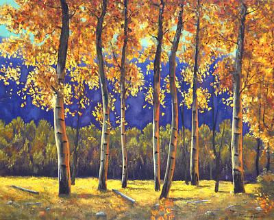 Autumn Glow Art Print by Connie Tom