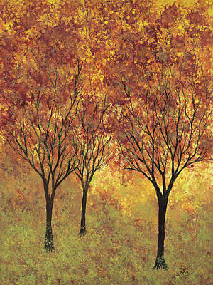 Painting - Autumn Glow by Flo Markowitz
