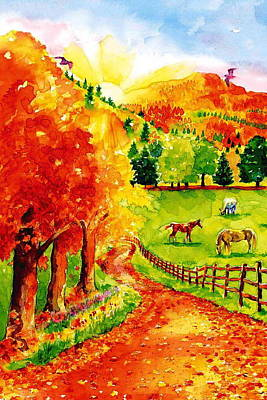 Autumn Graze Art Print by Sloane FinneganAllen