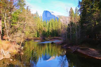 Photograph - Autumn Half Dome Reflection by Heidi Smith