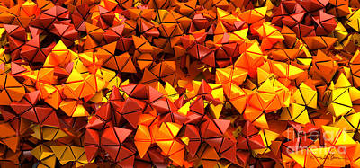 Digital Art - Autumn Hedron 6028 by William Ladson