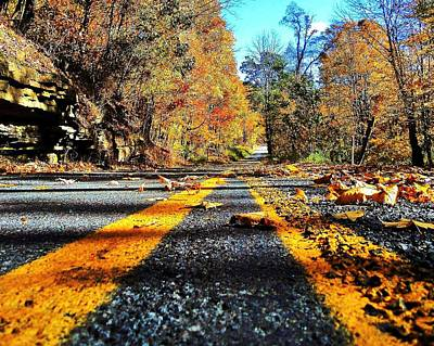 Autumn Highway Art Print