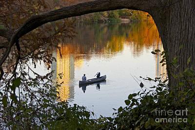 Autumn Idyll On Lake Austin Art Print by Sean Griffin