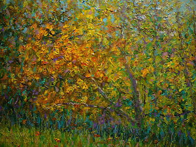 Painting - Autumn Impasto by Terry Perham