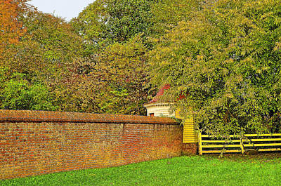 Autumn In Mount Vernon Virginia Art Print