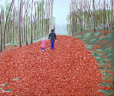 Autumn In Mullaghmeen Forest Art Print by Eamon Reilly