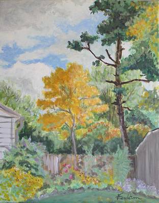 Fall Painting - Autumn In My Garden by Veronica Coulston