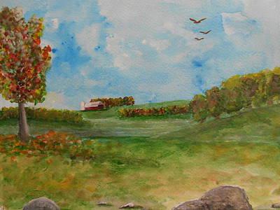 Autumn In New York Art Print by Barbara McNeil