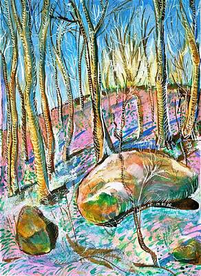 Lavender Drawing - Autumn In The Forrest by Ion vincent DAnu