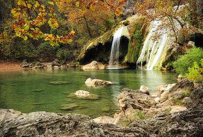 Autumn In Turner Falls Art Print