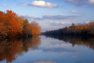 Intervals Photograph - Autumn Lake by Al Hurley