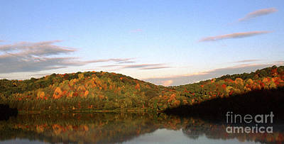 Allegheny County Digital Art - Autumn Lake Panoramic by Thomas R Fletcher