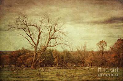 Spring Scenery Digital Art - Autumn Landscape/digital Painting  by Sandra Cunningham