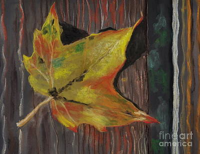Pastel - Autumn Leaf by Calliope Thomas