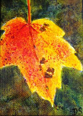 Painting - Autumn Leaf by Debra Spinks
