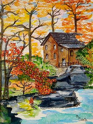 Painting - Autumn Leaves by Annamarie Sidella-Felts