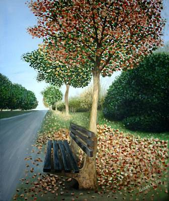 Autumn Leaves Art Print by Gizelle Perez