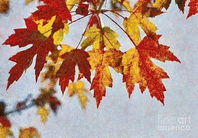 Autumn Leaves IIi Art Print by Billie-Jo Miller