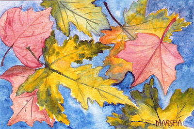 Painting - Autumn Leaves by Marsha Woods