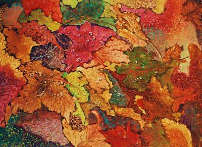 Mixed Media - Autumn Leaves by Terry Jackson