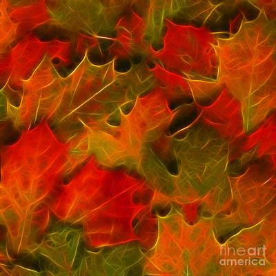 Autumn Leaves - Version 2 - Square Art Print