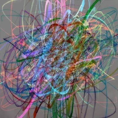 Digital Art - Autumn Likes Lines by Michelle Calkins