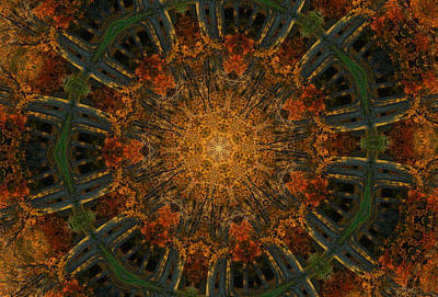 Digital Art - Autumn Mandala 6 by Rhonda Barrett