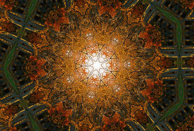 Digital Art - Autumn Mandala 8 by Rhonda Barrett