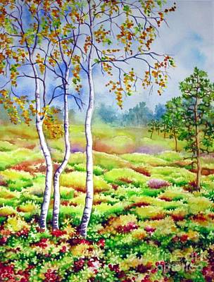 Painting - Autumn Marsh by Inese Poga