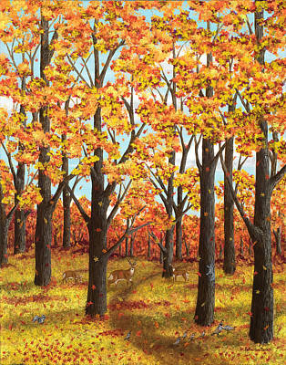 Autumn Meadow Original by Katherine Young-Beck