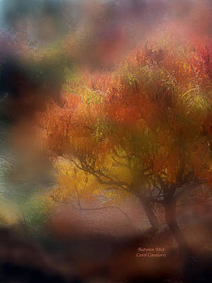 The Trees Mixed Media - Autumn Mist by Carol Cavalaris