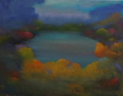 Autumn Mist Art Print by David Snider