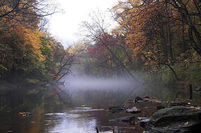 Phillies Digital Art - Autumn Morning On The Wissahickon by Bill Cannon