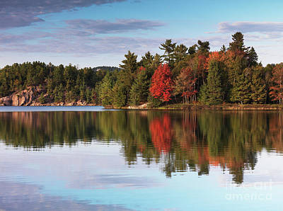 Ontario Photograph - Autumn Nature Lake And Trees by Oleksiy Maksymenko