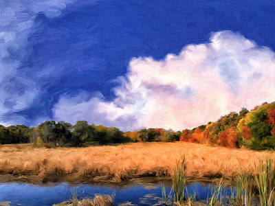 Isle Of Palms Painting - Autumn On Isle Of Palms by Dominic Piperata
