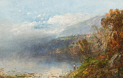Mountain Painting - Autumn On The Androscoggin by William Sonntag