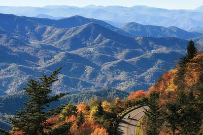 Autumn On The Blue Ridge Parkway Art Print by Lynne Jenkins