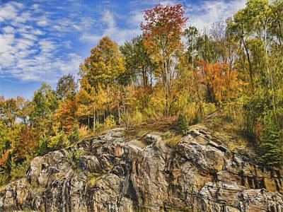 Autumn On The Rocks Art Print by Jo-Anne Gazo-McKim