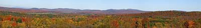 Autumn Panorama Brome Quebec Canada Art Print by David Chapman