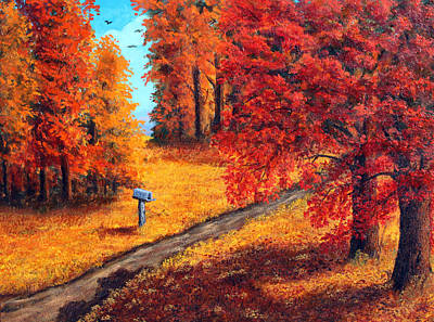 Painting - Autumn Paths by Lorraine Foster