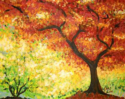 Painting - Autumn Rainbow by Cami Lee