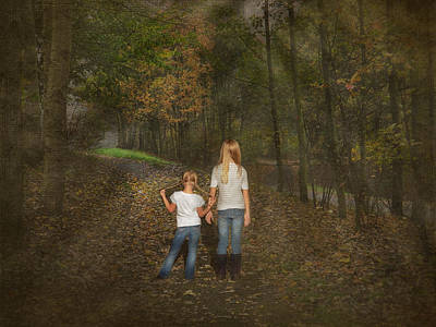 Youngsters Mixed Media - Autumn Rays by Maria Dryfhout