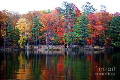 Autumn Reflected  Art Print