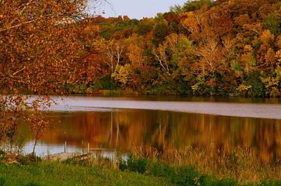 Autumn Reflection Art Print by Susan Camden