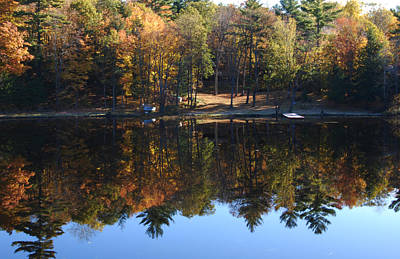 Autumn Reflections Art Print by Kim French