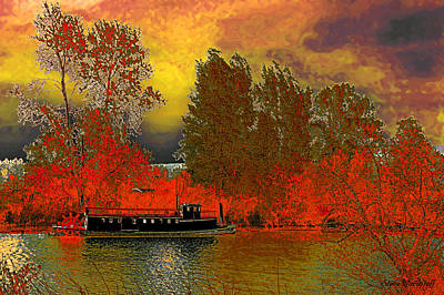 Digital Art - Autumn Rising by Steve Warnstaff